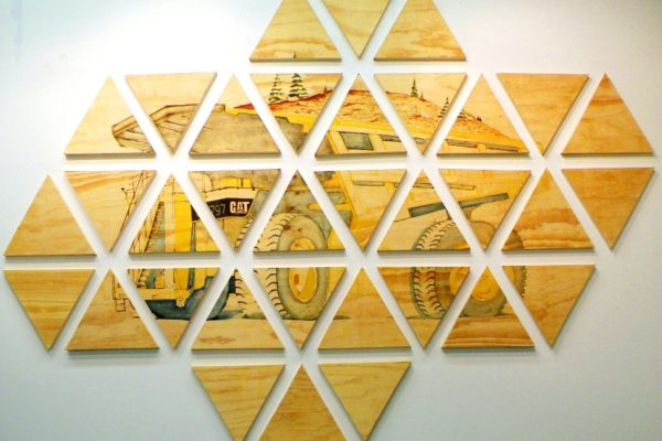 Tensegrity, oil on panel, 2013, by David Jacob Harder